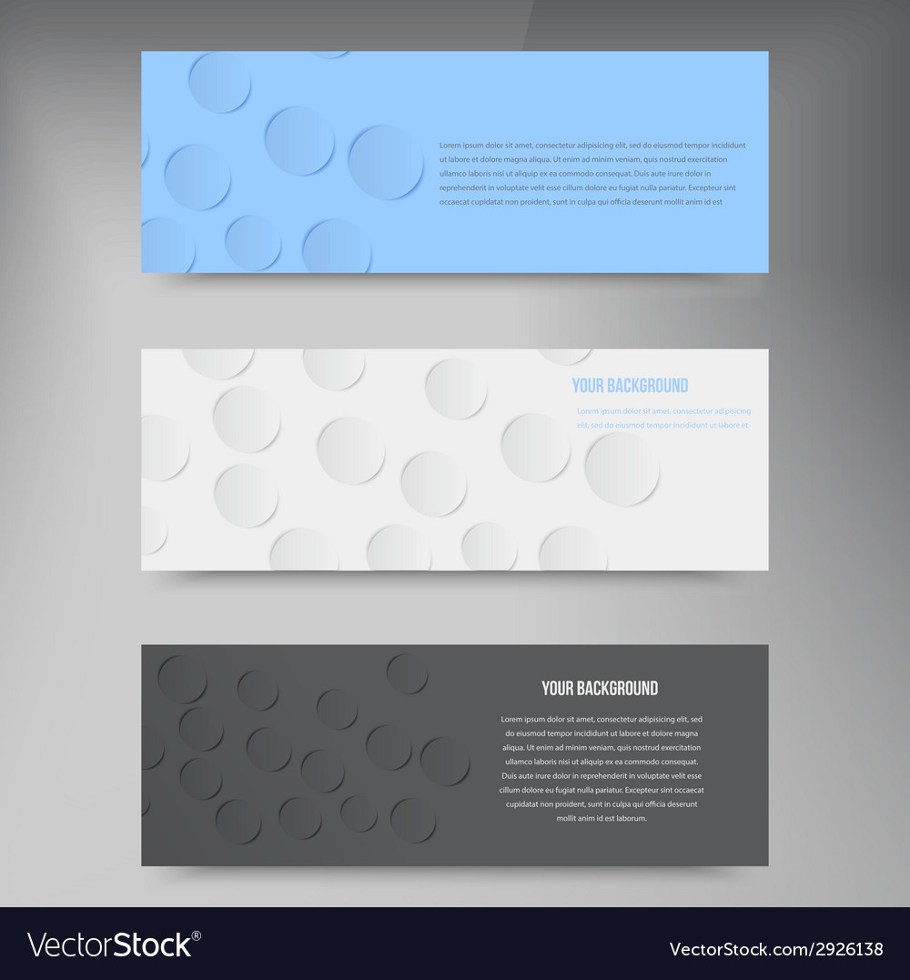 Paper template banner White note