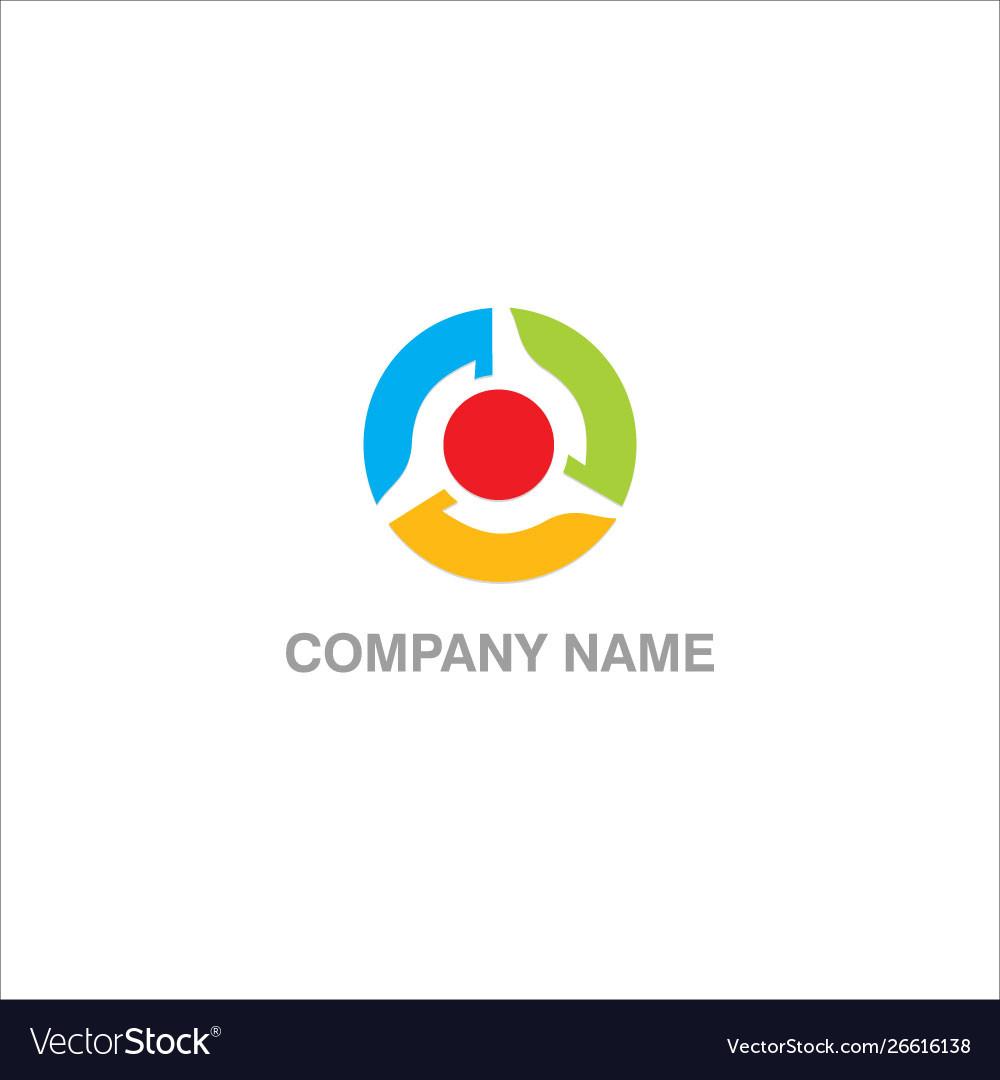 Round circle colored logo