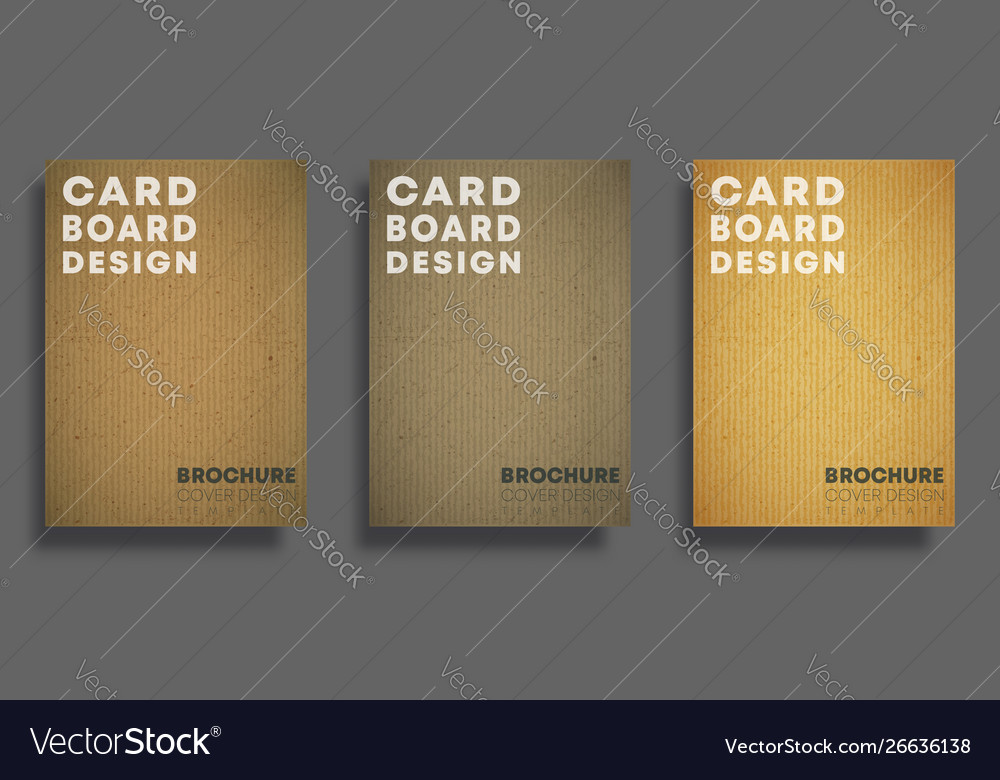 Set backgrounds with cardboard texture pattern