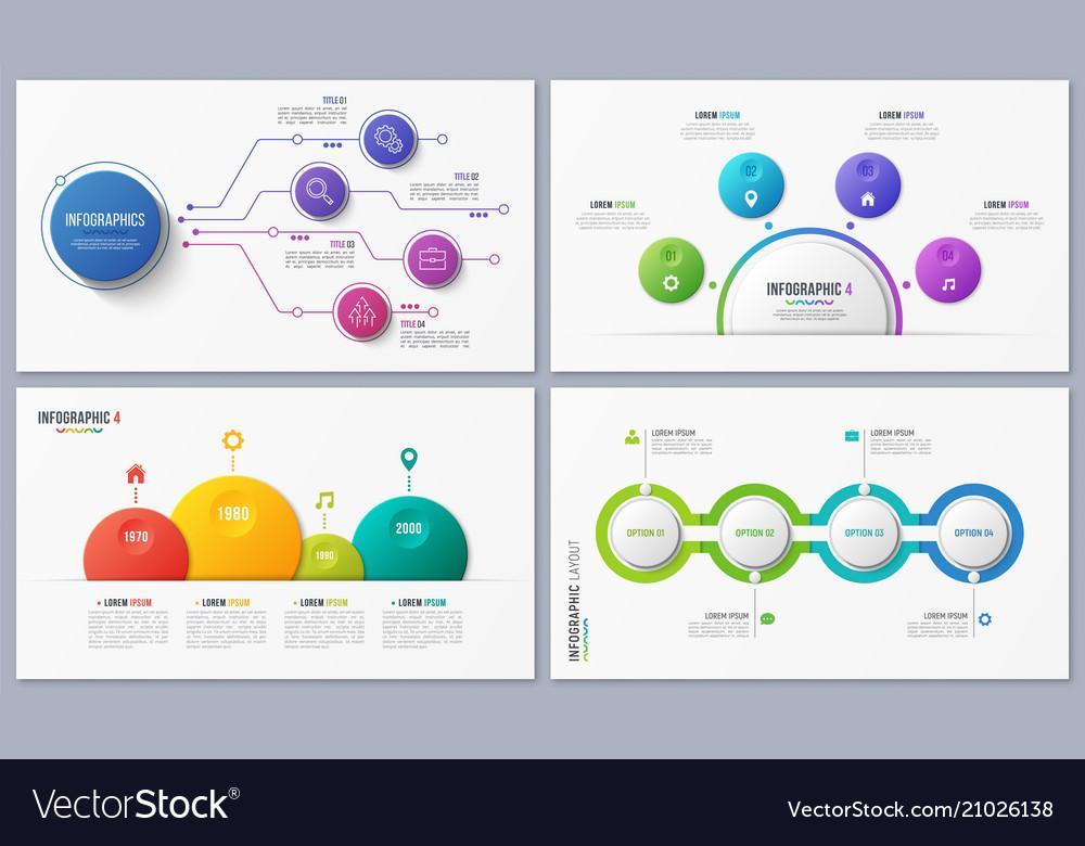 Set contemporary infographic designs concepts
