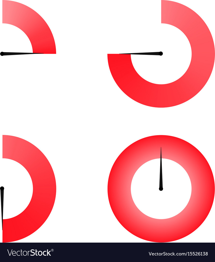 Set of red colored timers vector image
