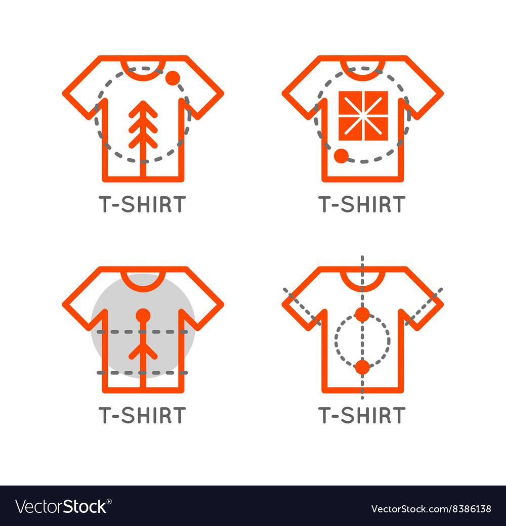 T Shirt Logo Set Online Shop Logo Clothing Shop Vector Image