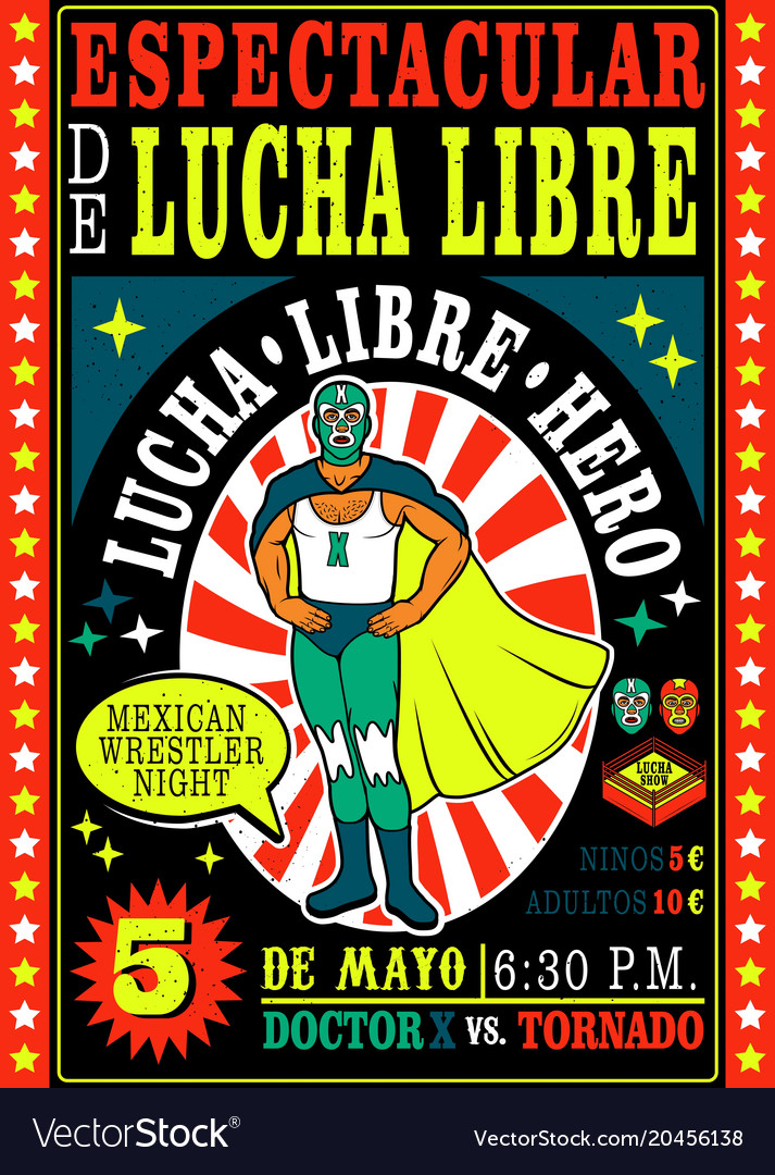 Vintage lucha libre ticket