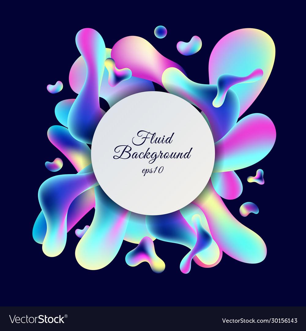 Abstract trendy neon gradient color fluid shape