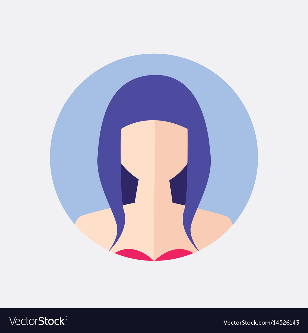 Avatar woman design vector image