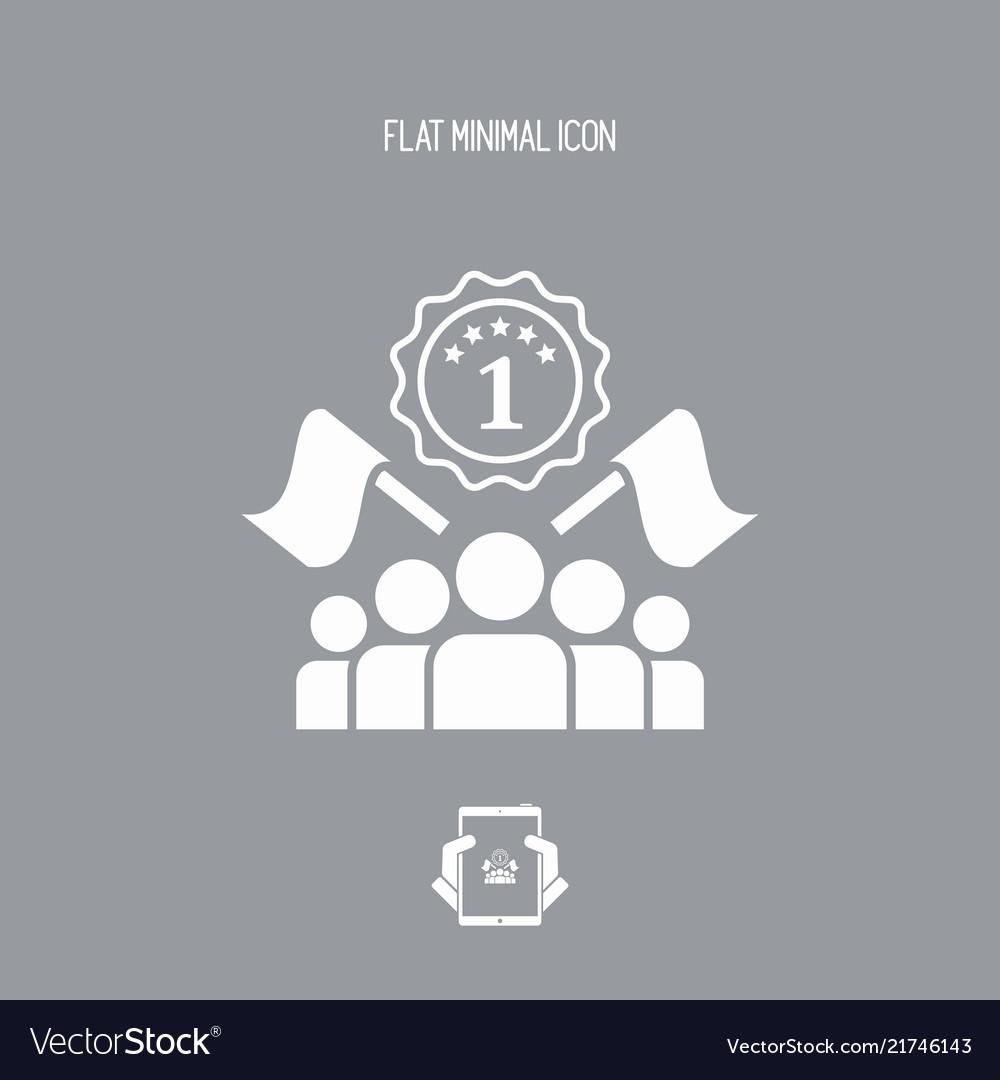 Competition winner - flat minimal icon