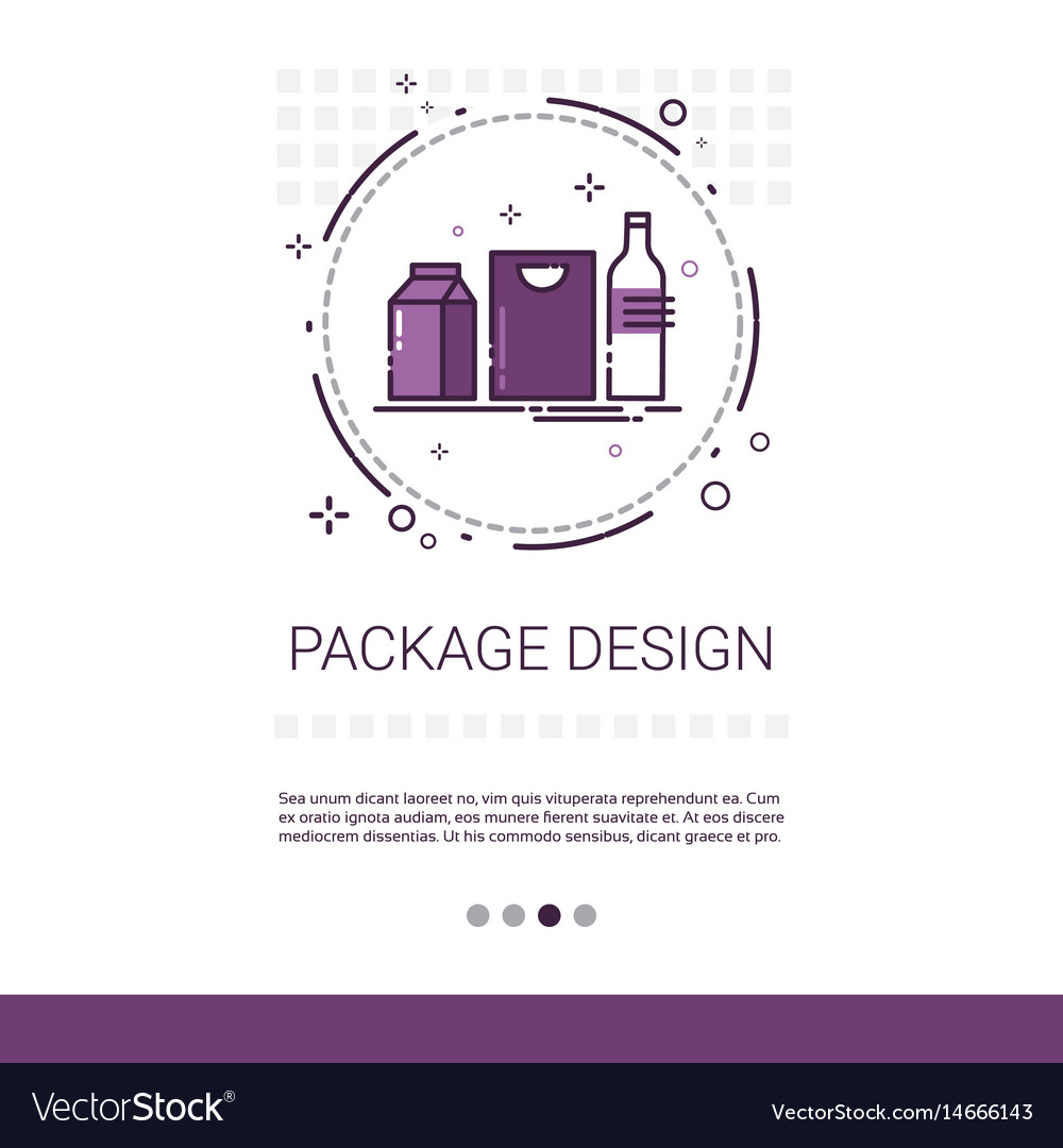 Package design good branding banner with copy vector image