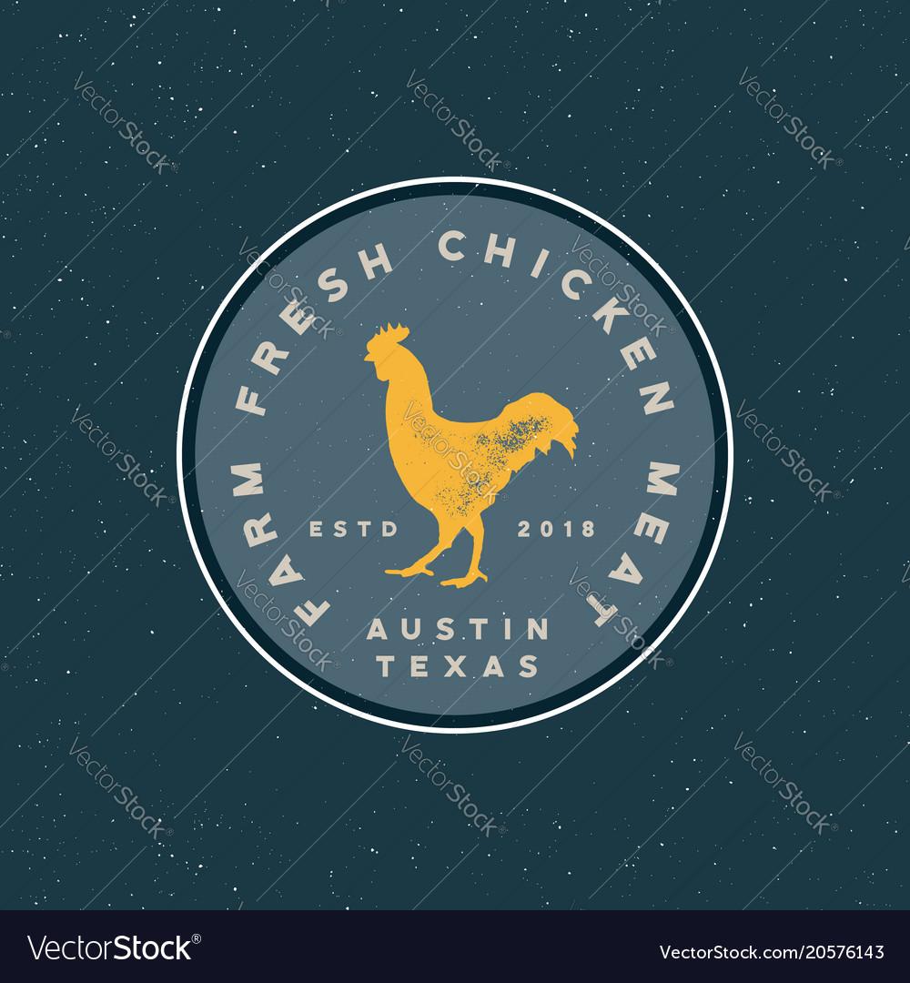 Premium fresh chicken meat label vector image