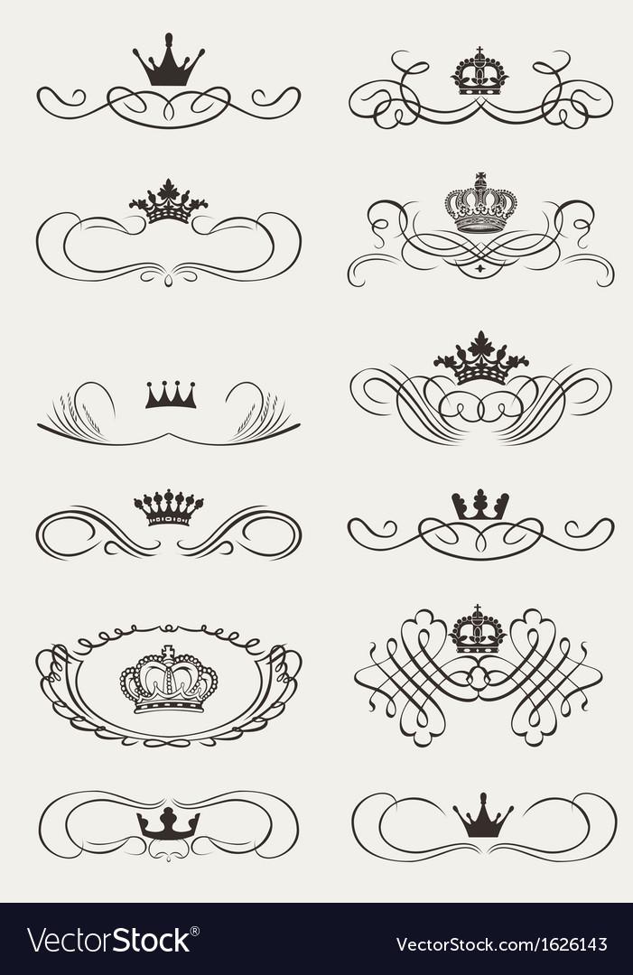 Royal Crown Calligraphy