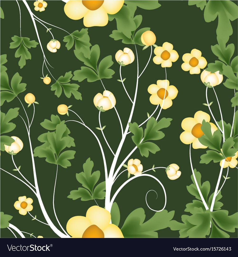 Seamless florals pattern background