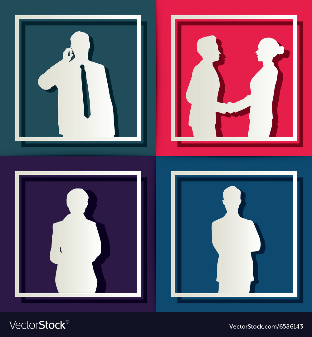 Silhouette people of Business concept
