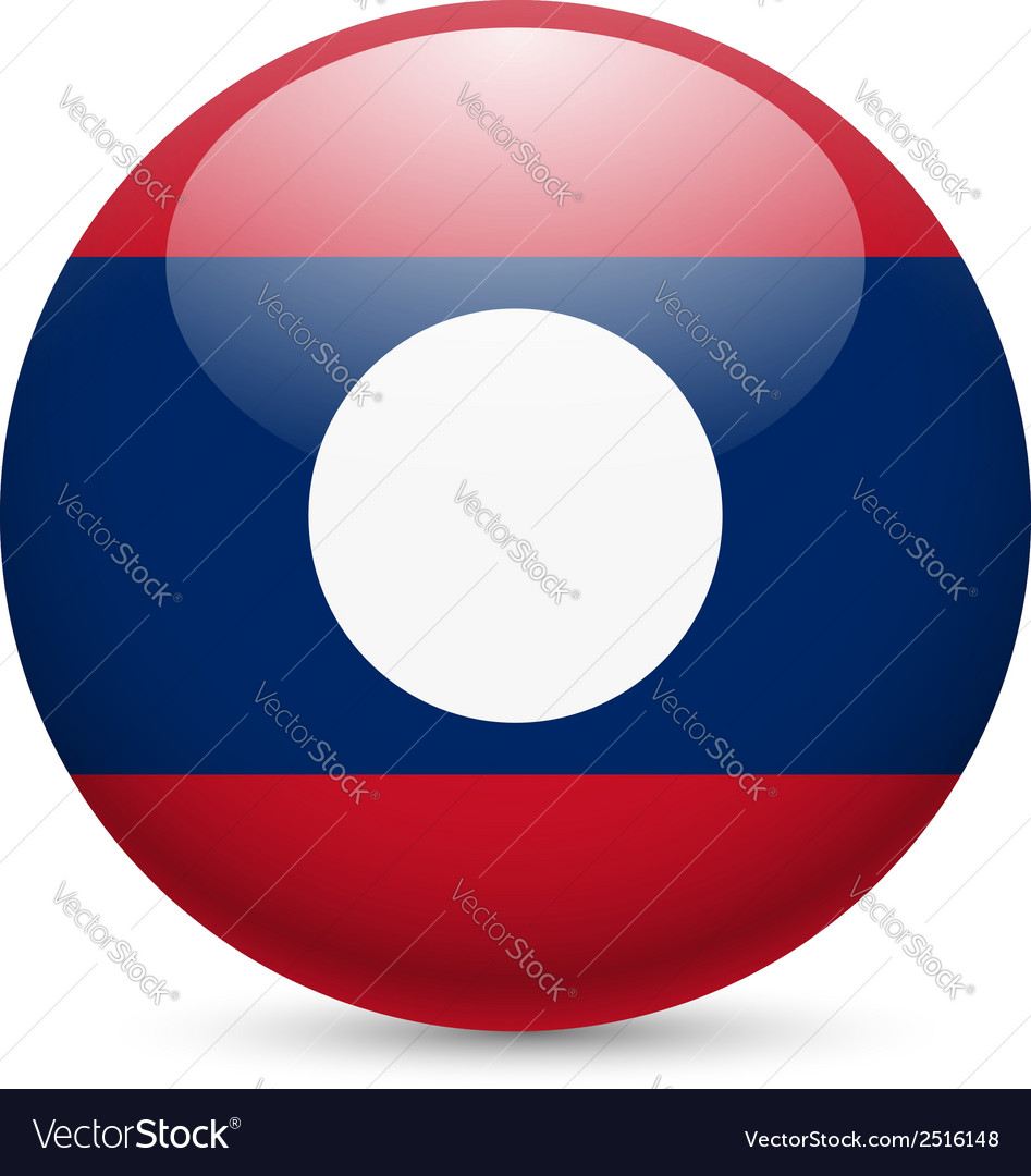 A badge in colours of Laos flag vector image