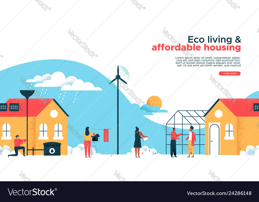 Green house real estate business landing page