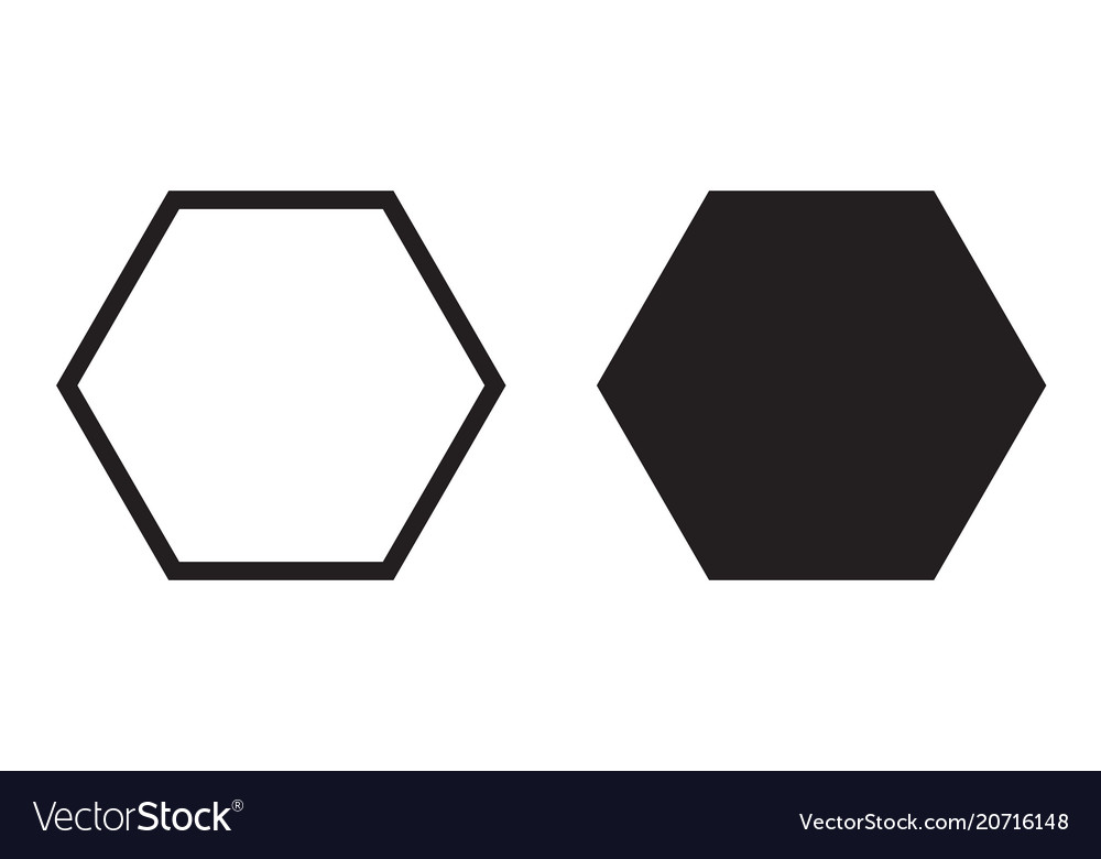 hexagon icon six sided polygon hexagon royalty free vector rh vectorstock com hexagon vector shape hexagon vector pattern