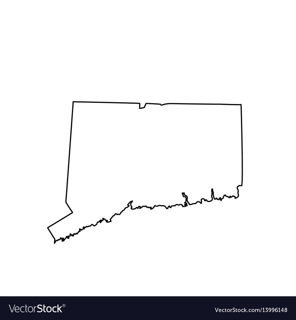 map of the us state connecticut royalty free vector image