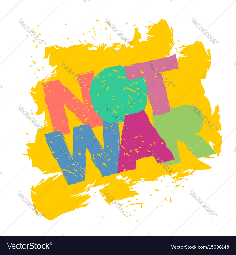 Not war emblem in grunge style spray and
