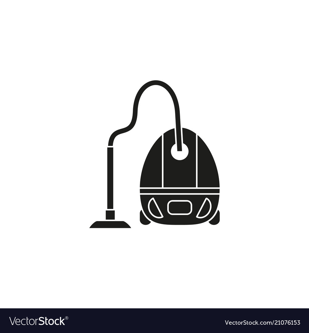 A vacuum cleaner black icon vector image