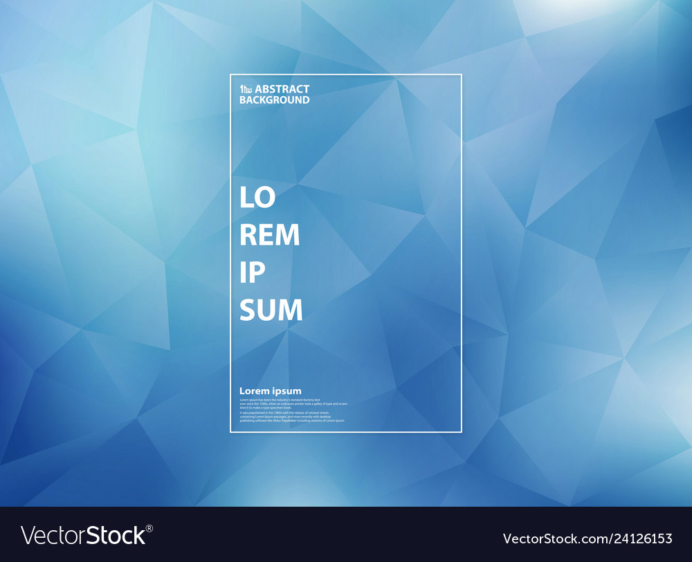 Abstract modern gradient blue of low polygon