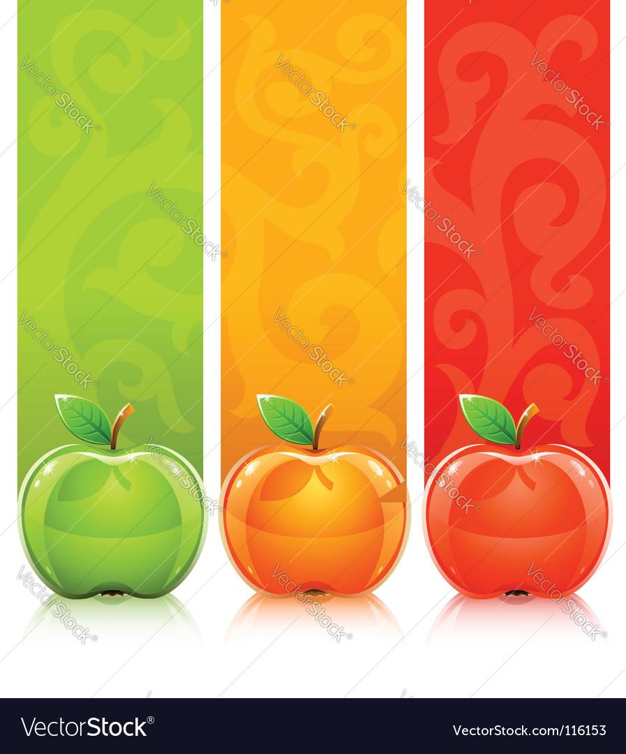 Apples on decorative background