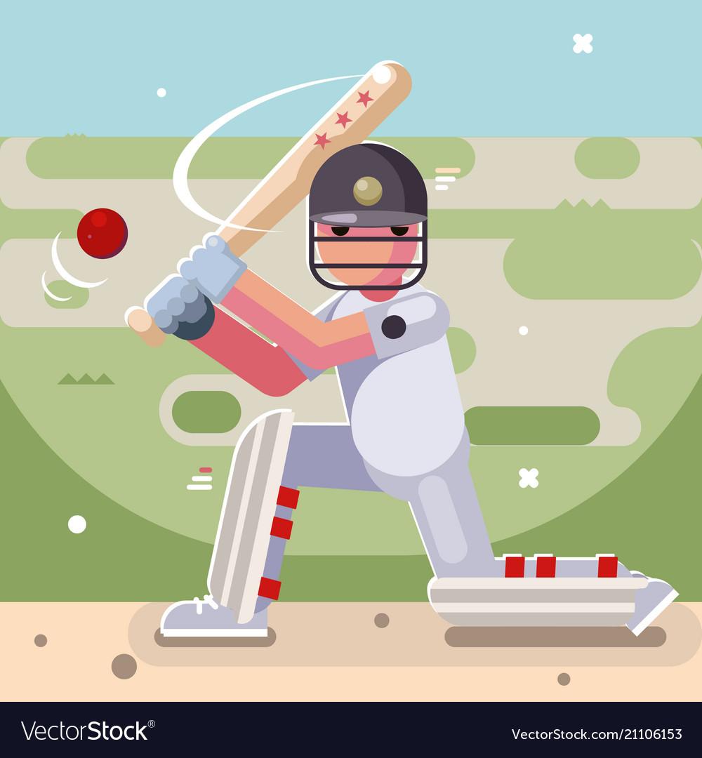 Batting sport game cricket batsman baseball bat