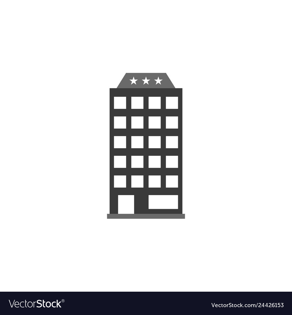 Building hotel icon graphic download template
