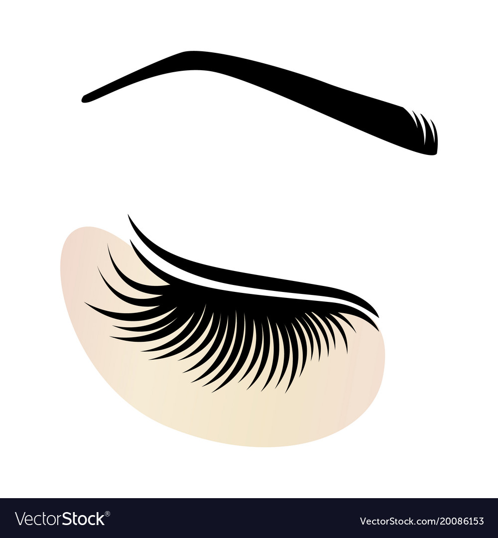 Eyelash extensions logo with eye patch