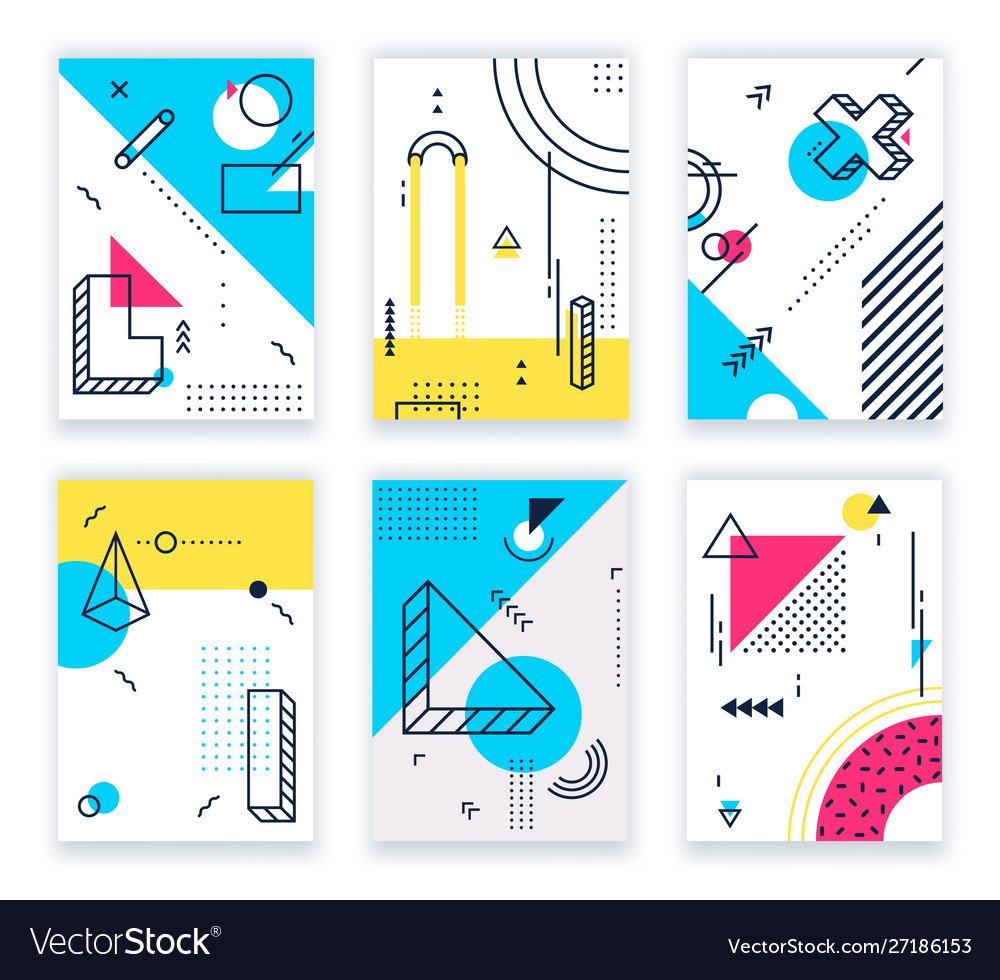 Geometric shapes posters abstract geometrical