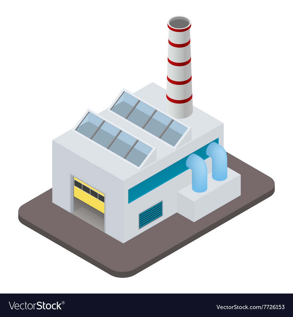 Isometric factory building icon