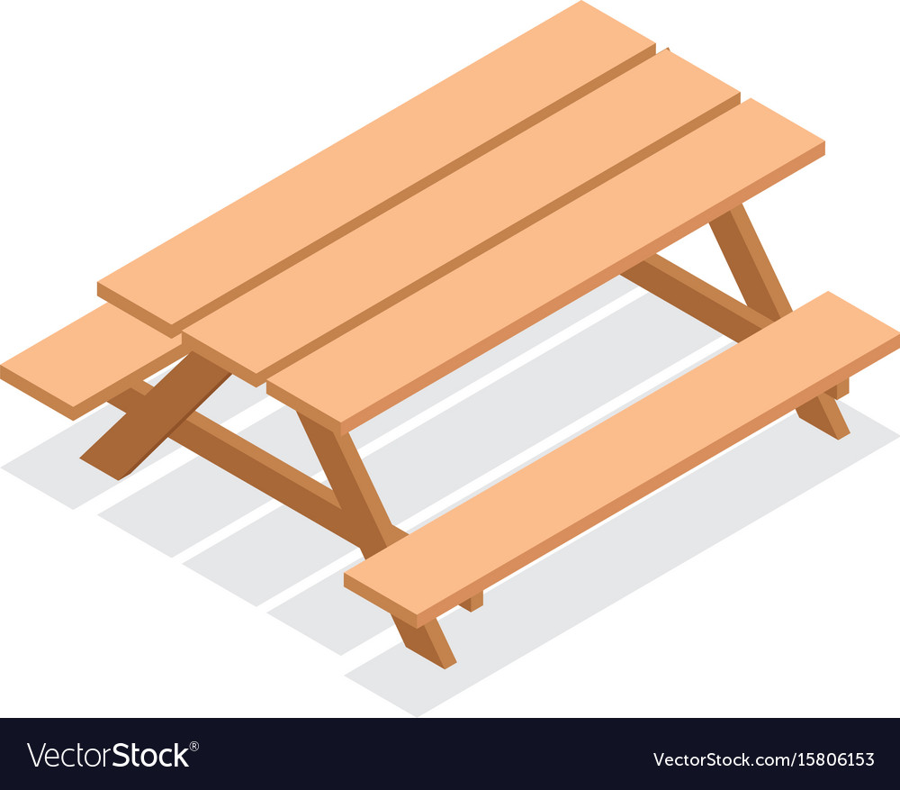 Swell Isometric Wooden Table With Benches Squirreltailoven Fun Painted Chair Ideas Images Squirreltailovenorg