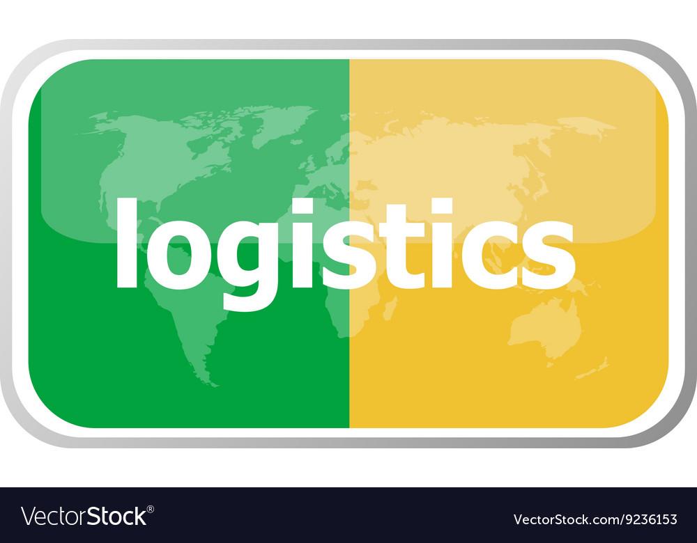 Logistics Flat web button icon World map earth