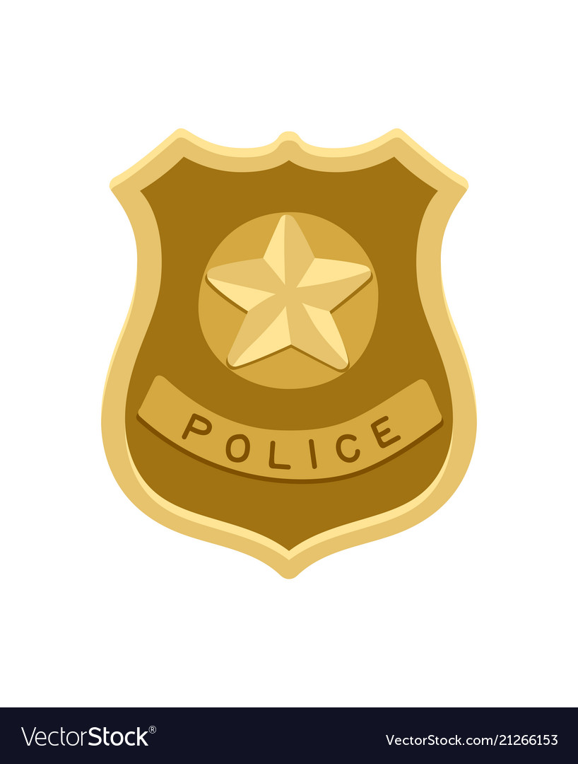 Police badge icon isolated on white
