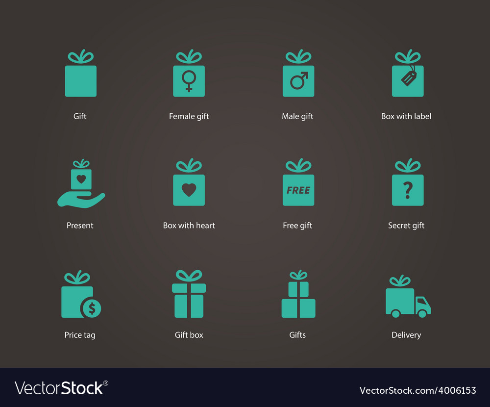 Present box icons