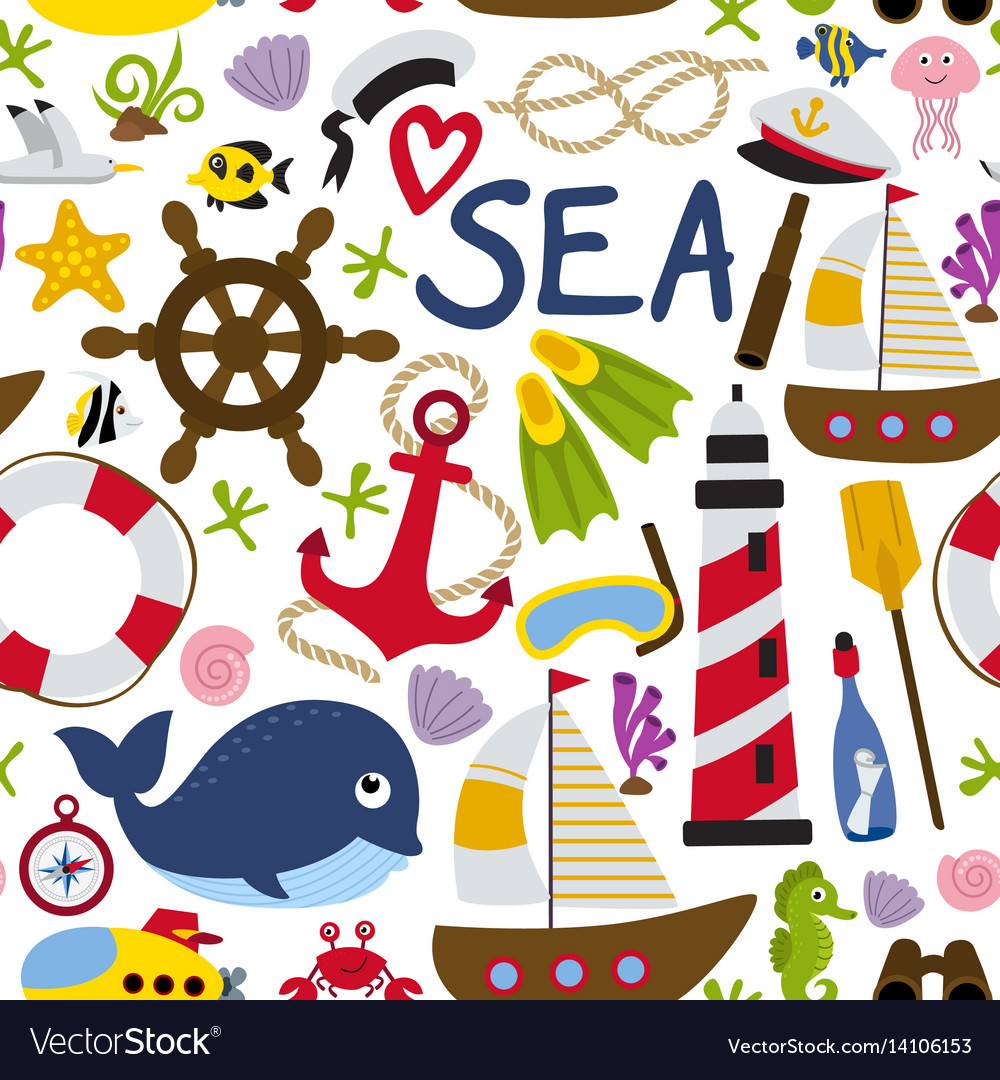 Seamless pattern with nautical element