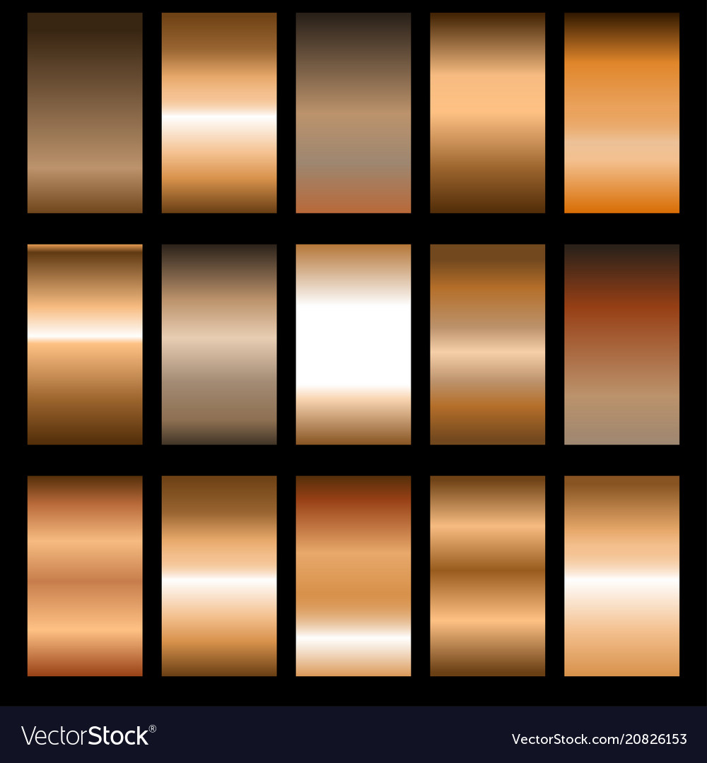 Set of metal gradients