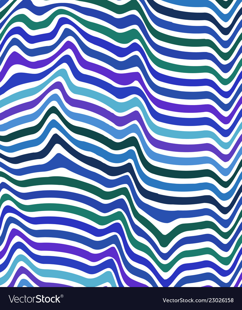 Abstract color wavy background line pattern