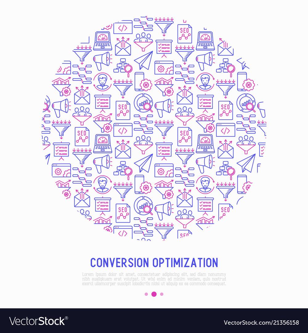 Conversion optimization concept in circle