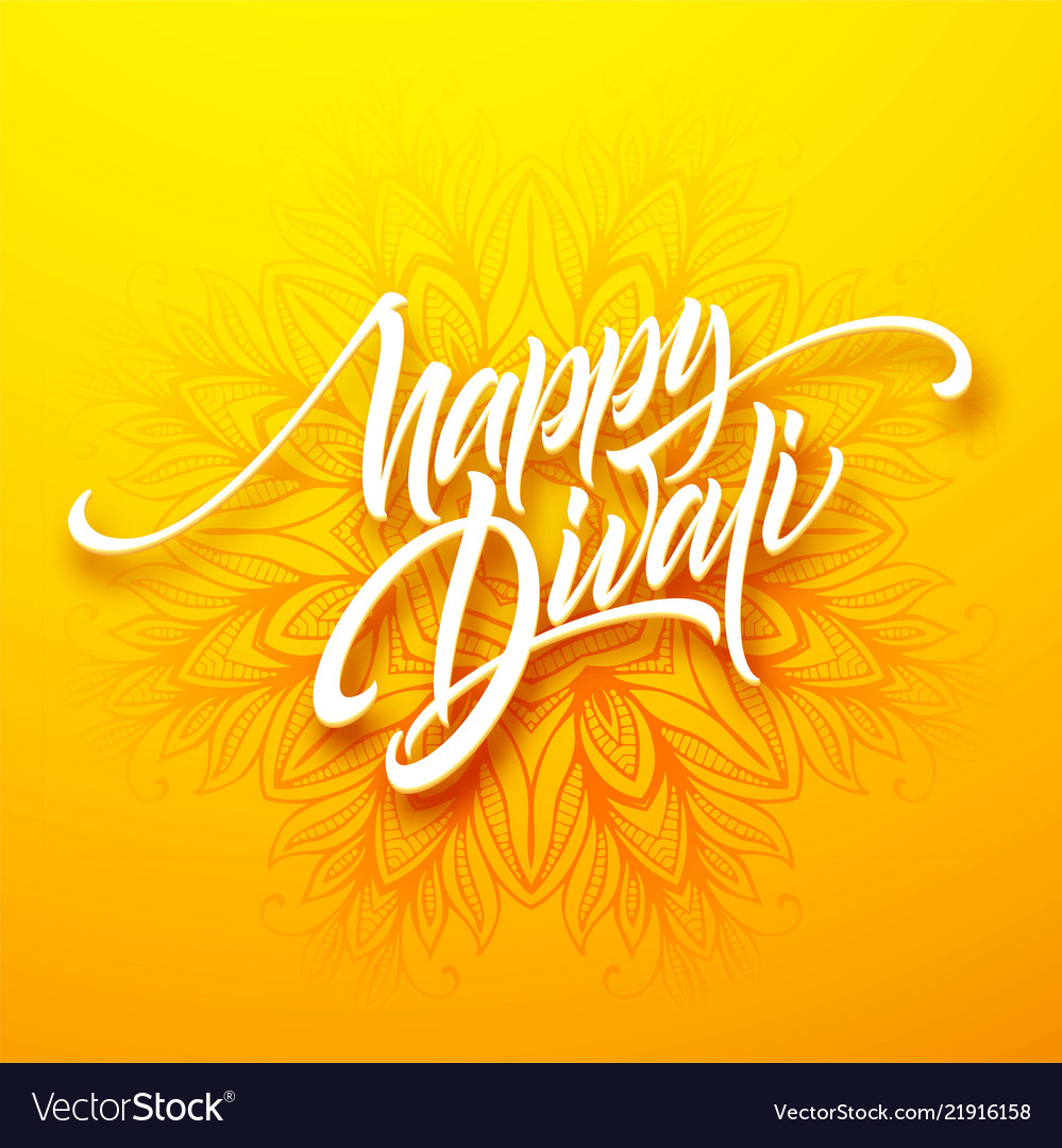 Happy diwali traditional indian festival greeting