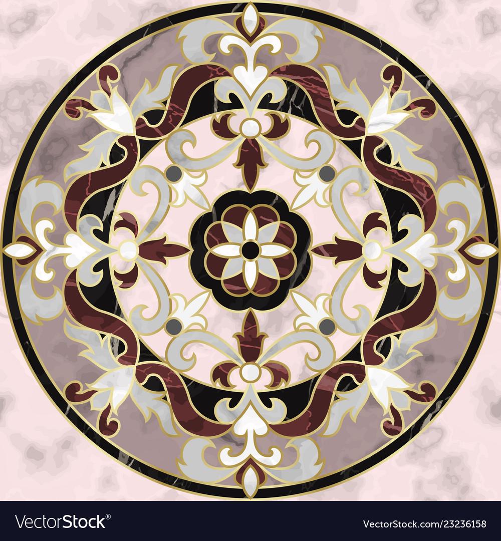 Luxury pink marble mosaic classic seamless pattern