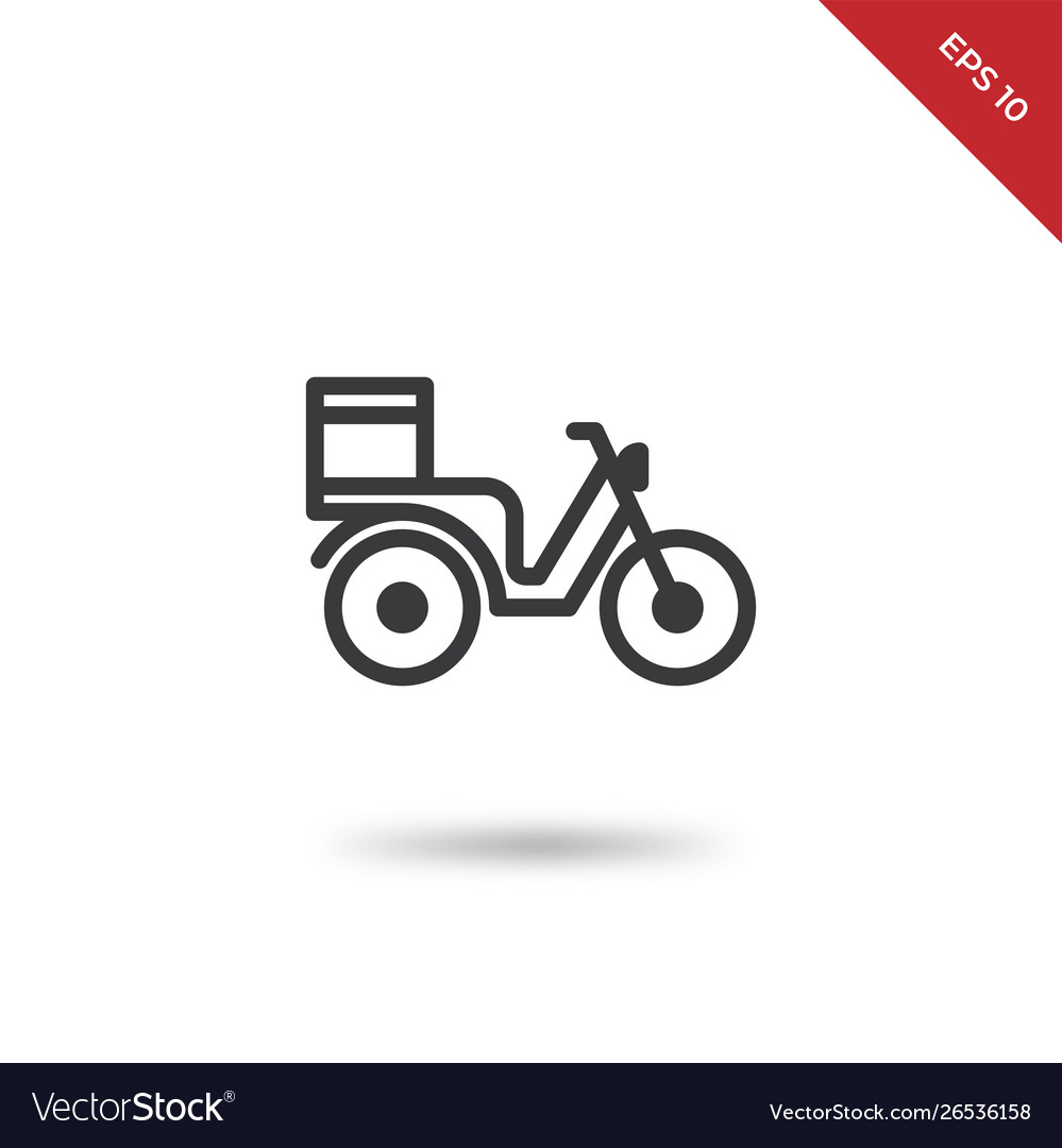 Motorbike delivery icon