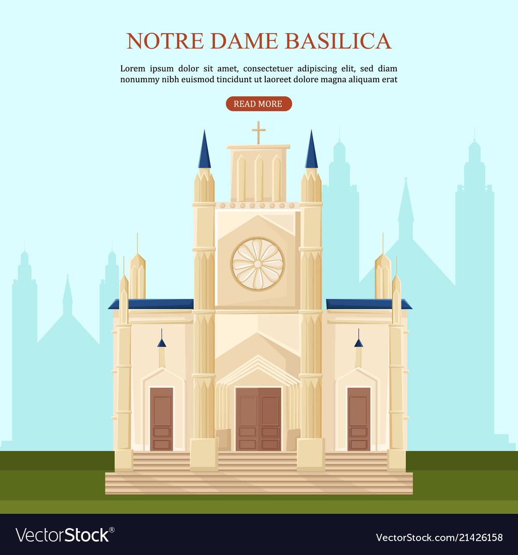 Notre dame basilica in paris architecture