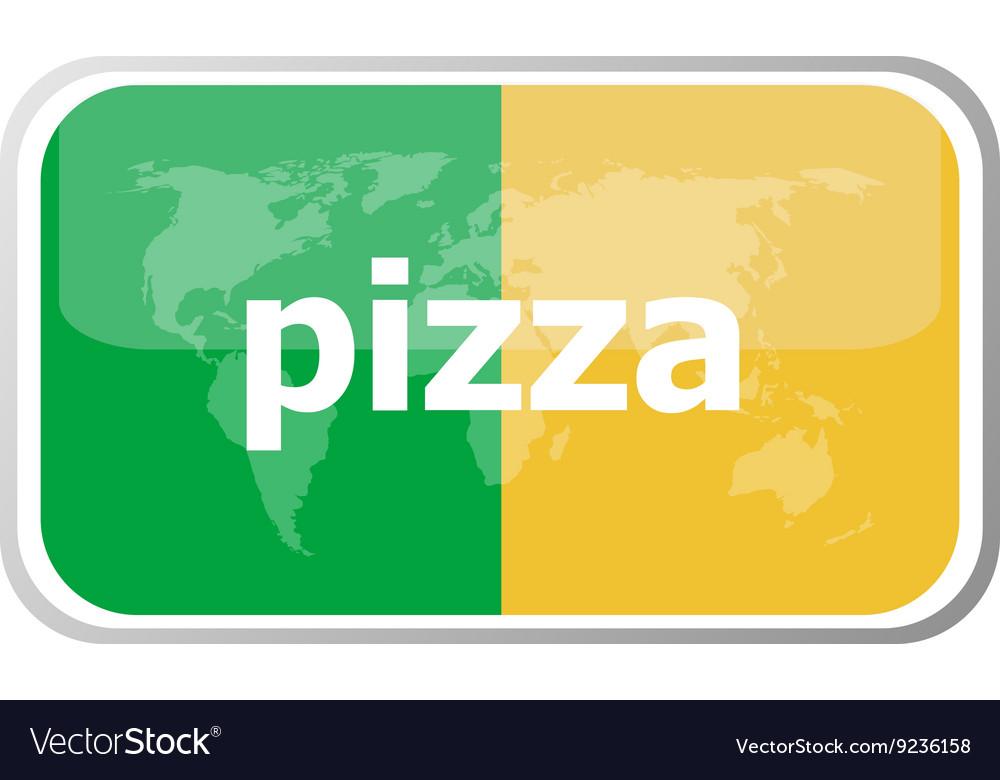 Pizza Flat web button icon World map earth icon
