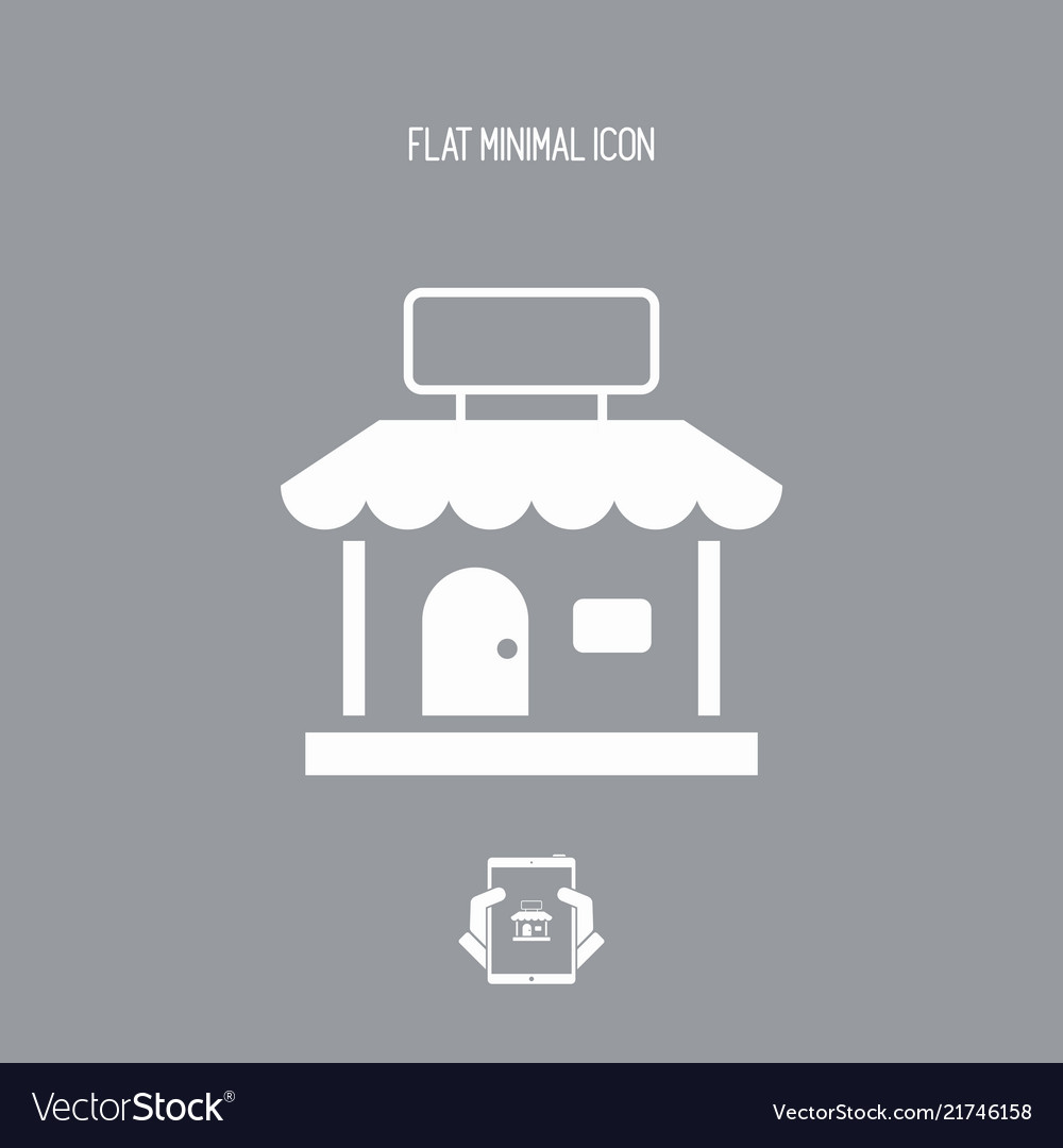 Shop symbol - flat minimal icon