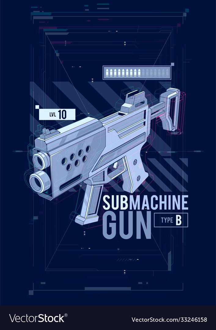 Sub machine gun hud design