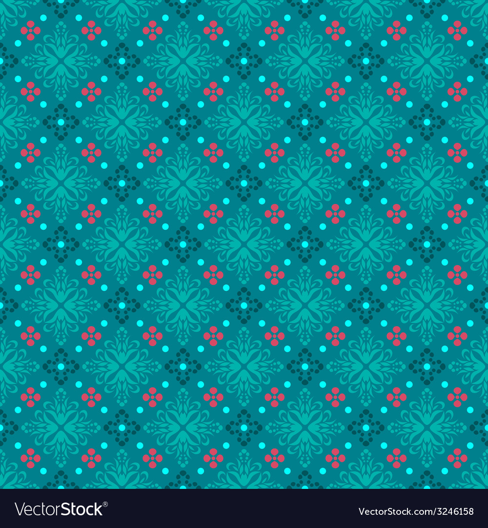 Turquoise seamless background classic vector image