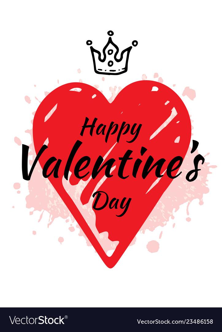 Valentine s day card design with heart slogan