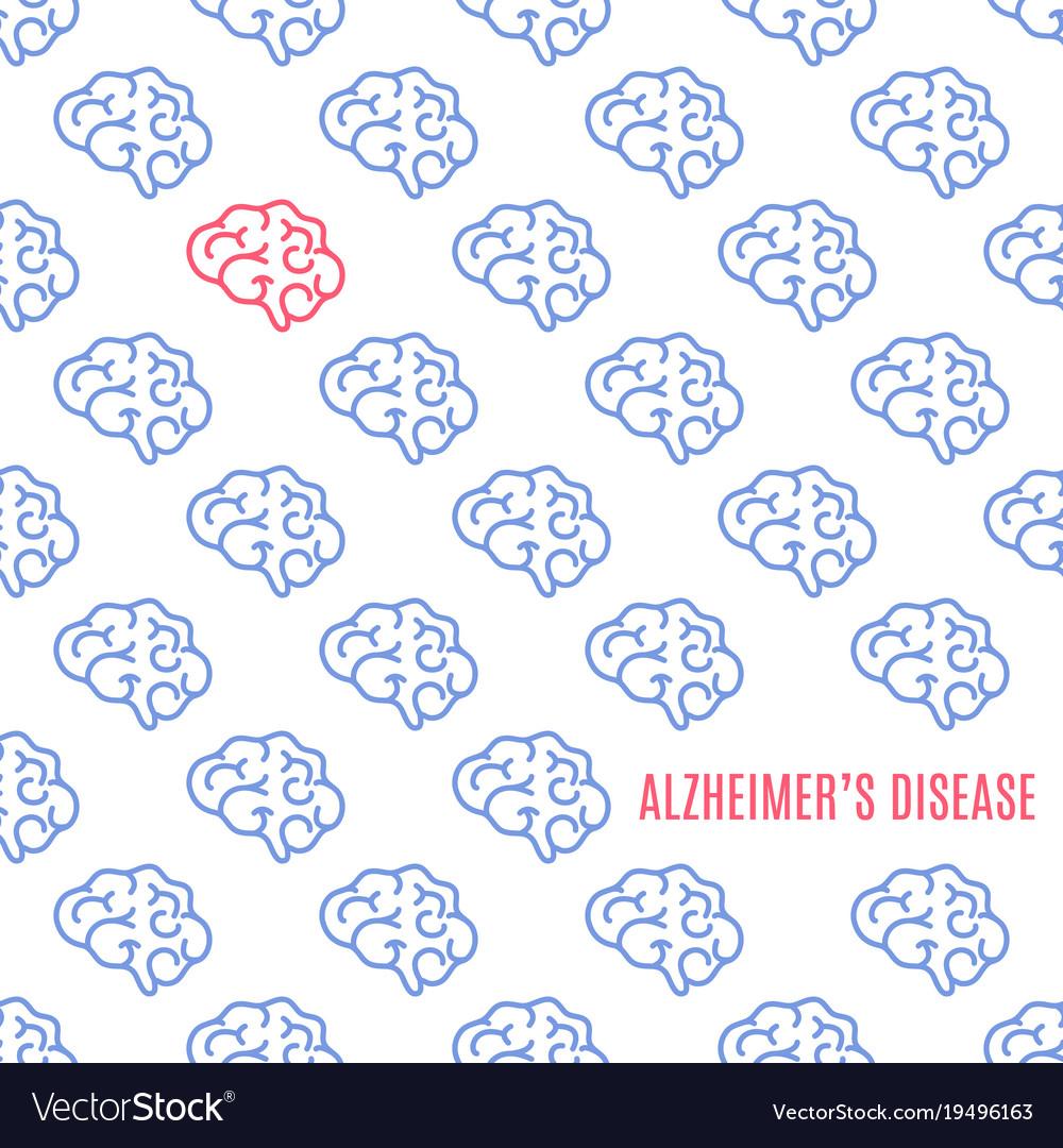 Alzheimer disease pattern poster