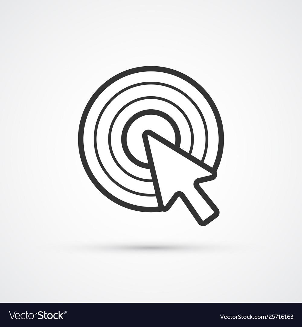 Cursor click flat line trendy black icon eps10