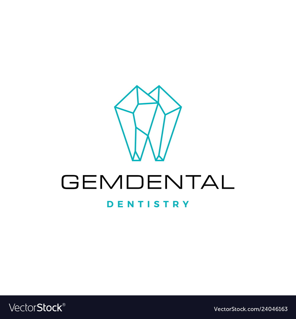 Gems dental logo for dentist and dentistry