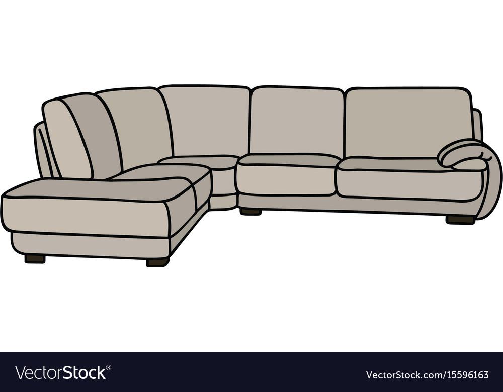 Big Sofa Royalty Free Vector Image