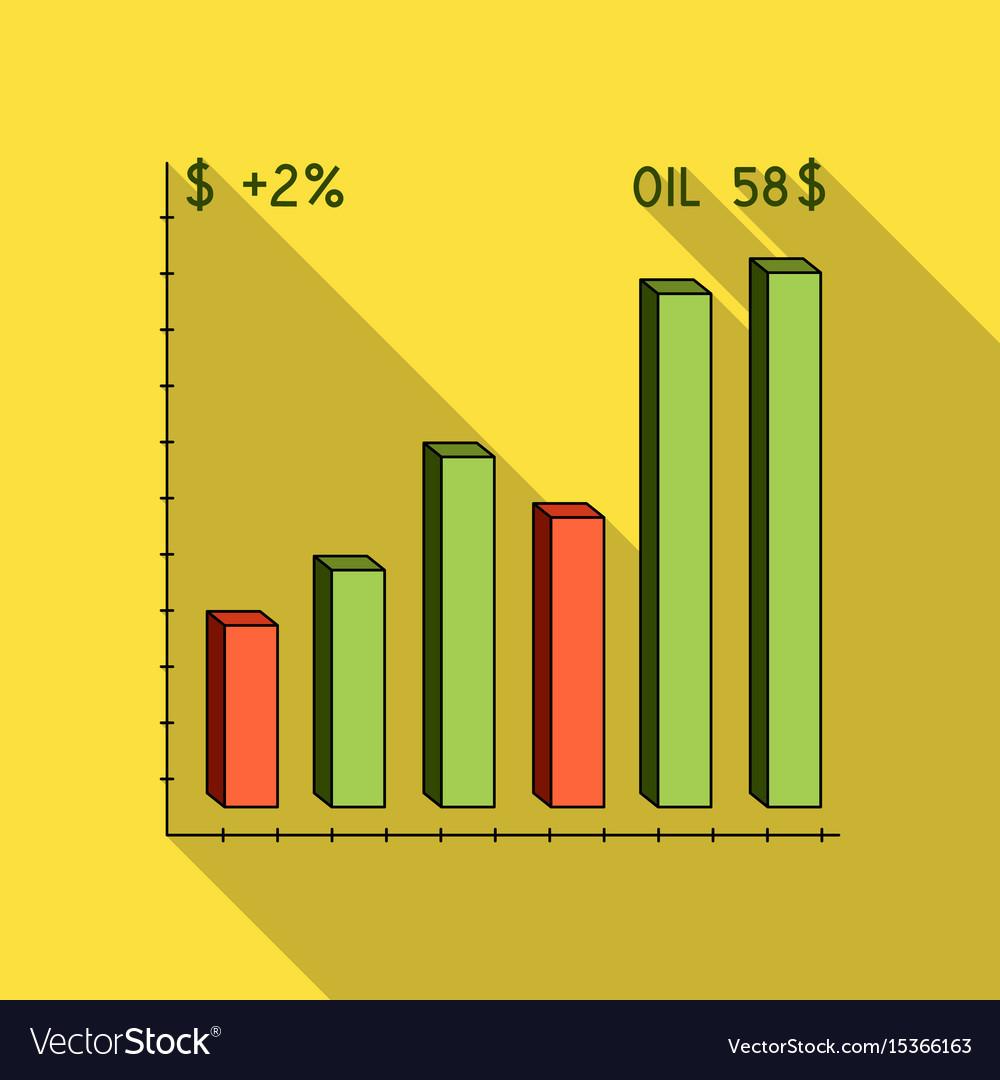 Oil price chartoil single icon in flat style